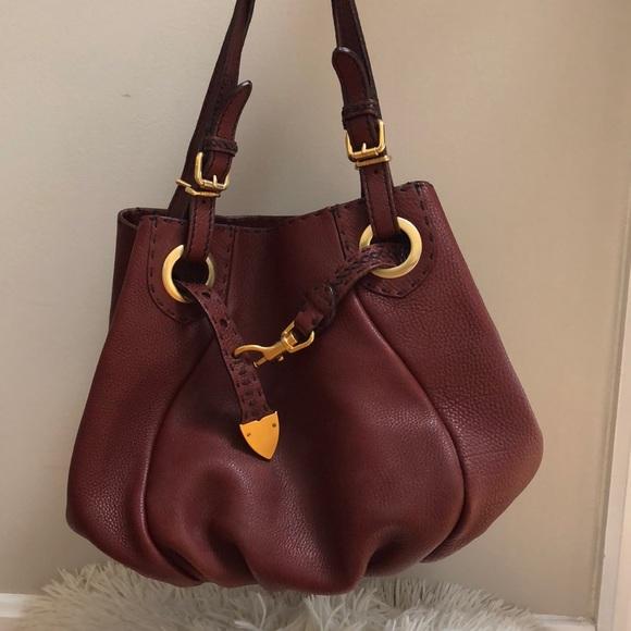c35b65097af3 Fendi Handbags - Fendi Burgundy Leather Selleria Pomodorino Bag New